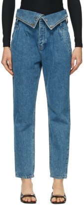 RE/DONE Blue 80s Foldover Jeans