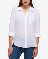 Tommy Hilfiger Linen Roll-Tab Shirt, Only at Macy's