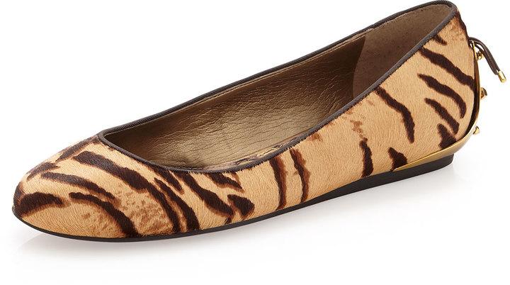 Sam Edelman Animal-Print Calf-Hair Flat, Tiger
