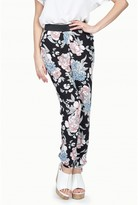 Select Fashion Fashion Womens Black Blouson Floral Soft Trouser - size 8