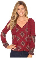 Lucky Brand Placed Print Top Women's Clothing
