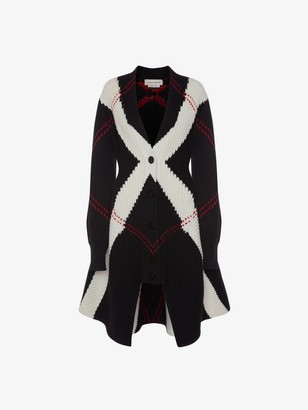 Alexander McQueen Exploded Argyle Knit Cardigan