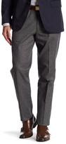 Bonobos Flatiron Grey Woven Regular Fit Double-Pleated Cotton Trouser