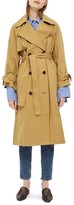 Topshop Women's Editor's Double Breasted Trench Coat