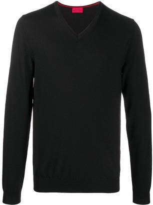 HUGO BOSS V-neck wool jumper