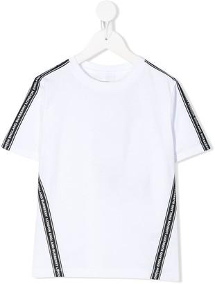 BURBERRY KIDS logo stripe T-shirt