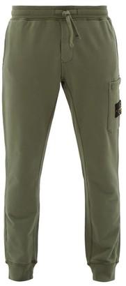 Stone Island Logo-patch Cotton Track Pants - Mens - Green