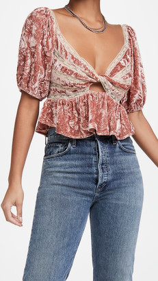 Free People Yours Truly Velvet Top
