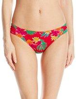 Hobie Women's Tropical Locales Sash Side Hipster Bikini Bottom