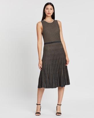 Banana Republic Metallic Stripe Sweater Dress