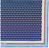 Salvatore Ferragamo Men's Sailboat-Print Silk Pocket Square