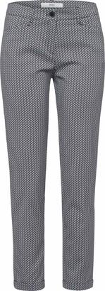 Brax Women's Maron Minimal Jacquard Trouser