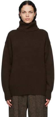 Extreme Cashmere Brown Cashmere Oversize Xtra Turtleneck
