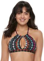 Apt. 9 Women's Printed High-Neck Halter Bikini Top