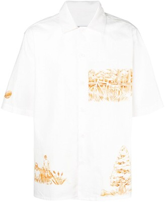 Ami Paris Short Sleeve Patch Shirt