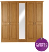 Consort Furniture Limited Dorchester 5-Door Mirrored Wardrobe