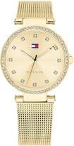 Tommy Hilfiger Women's Gold-Tone Stainless Steel Mesh Bracelet Watch 32mm