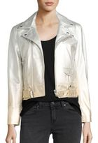 IRO Calum Ombre Metallic Leather Moto Jacket