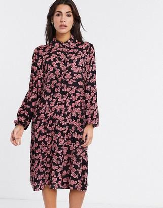 Vila midi shirt dress in floral