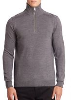 Burberry Farnborough Merino Wool Half-Zip Sweater