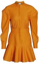 Acler Lewis Puff-Sleeve A-Line Shirtdress