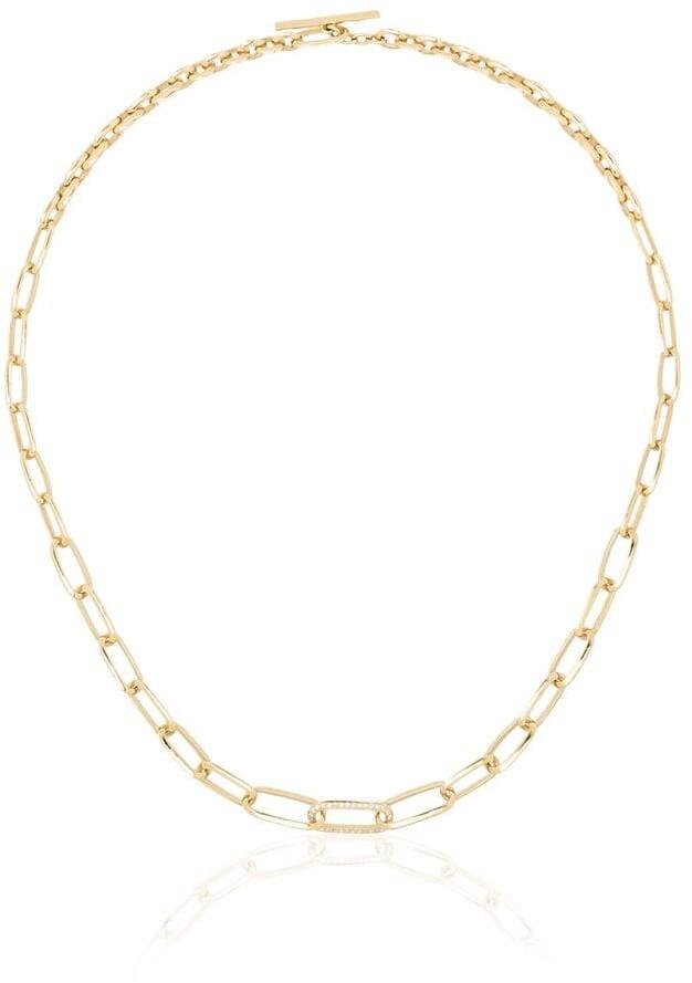 Lizzie Mandler Fine Jewelry 18kt Knife Edge diamond necklace