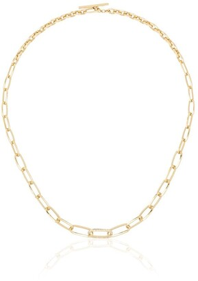 Lizzie Mandler Fine Jewelry 18kt Knife Edge diamond necklace