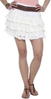Wet Seal Ruffle Tiered Crochet Skirt
