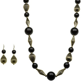 Linea By Louis Dell'olio by Louis Dell'Olio Moroccan Bead Necklace & Earring Set