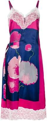 Junya Watanabe floral print slip dress