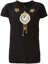 Dolce & Gabbana appliqué clock top - women - Silk/Polyamide/Polyester/glass - 38