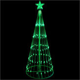 Asstd National Brand 12' Green LED Light Show Cone Christmas Tree Lighted Yard Art