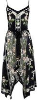 Oasis Silk Stripe Floral Dress