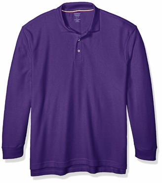 French Toast Boys' Big Long Sleeve Pique Polo Shirt