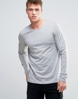 Esprit Long Sleeve Top in Gray Marl