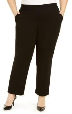 Kasper Plus Size Pull-On Modern Dress Pants