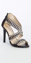 Camille La Vie Back Zip Lattice Rhinestone High Heel Sandal