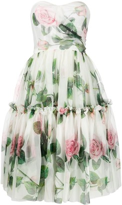 Dolce & Gabbana Rose Flared Midi Dress