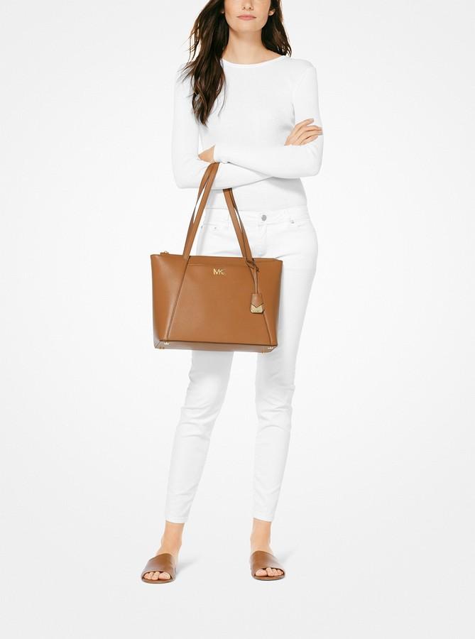 08d455024172 Michael Michael Kors Medium Leather Tote Bag - ShopStyle