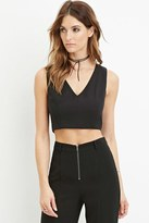 Forever 21 FOREVER 21+ Contemporary V-Neck Crop Top