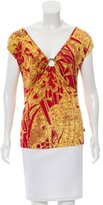 Just Cavalli Printed Short Sleeve Top w/ Tags