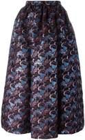 MSGM floral pattern full skirt