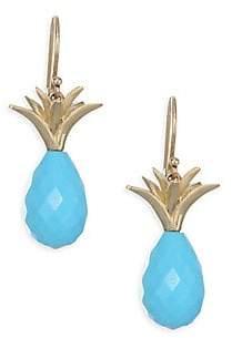 Annette Ferdinandsen Tropical Sleeping Beauty Turquoise Pineapple Drop Earrings