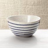 Crate & Barrel Lina Blue Stripe Cereal Bowl