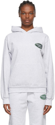 Sporty and Rich Grey Land Rover Edition Logo Patch Hoodie
