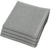 Now Designs Ripple Kitchen Dishcloth, Set of 4, London Grey, Set of 4