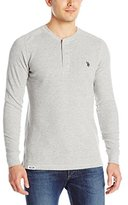 U.S. Polo Assn. Men's Long Sleeve Thermal Henley Pullover