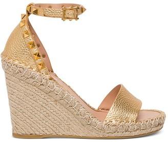Valentino Rockstud Double Wedge Sandals