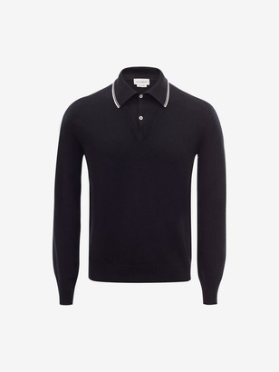 Alexander McQueen Knitted Polo Shirt