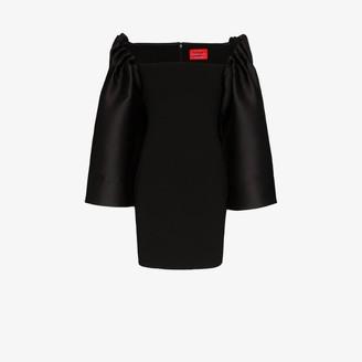 SOLACE London Linn oversized sleeve mini dress
